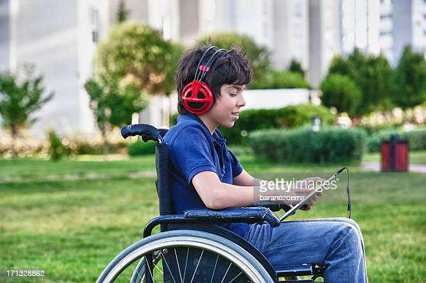 Disabled teen