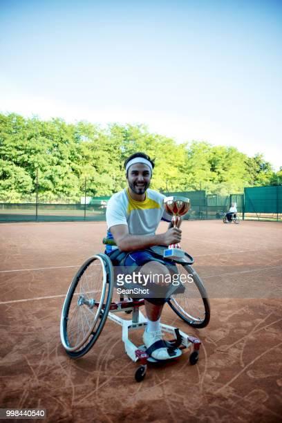 disabled tennis player - paraplegic stock photos and pictures