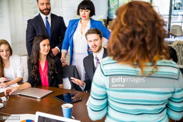 A disagreement in the staff meeting