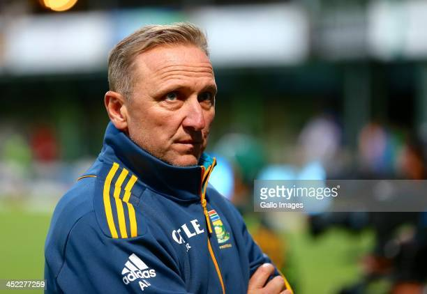 A disappointed Allan Donald during the 2nd One Day International match between South Africa and Pakistan at AXXESS St Georges on November 27 2013 in...