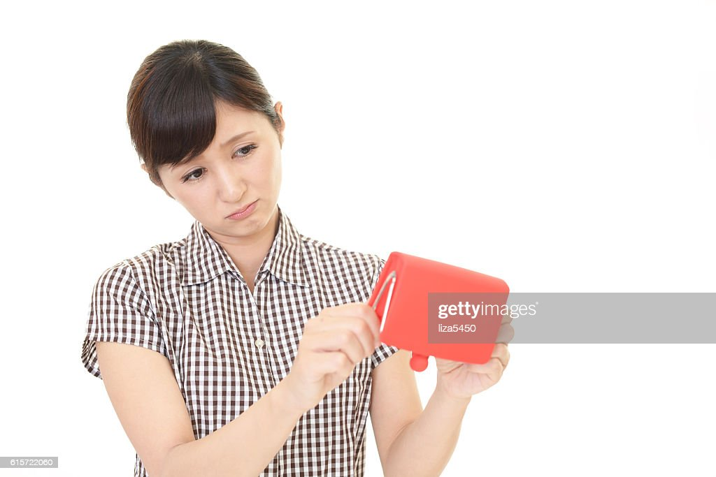Disappointed Asian woman : Stock Photo