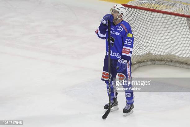 Disappointed Bernd Wolf of Villach during the Vienna Capitals v EC VSV Erste Bank Eishockey Liga at Erste Bank Arena on January 18 2019 in Vienna...