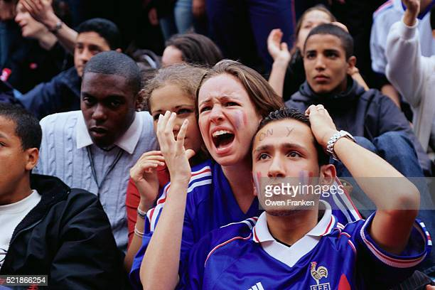 Disappointed French Fans Watching World Cup