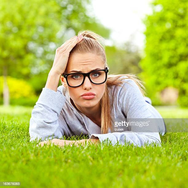 disappointed girl - izusek stock pictures, royalty-free photos & images