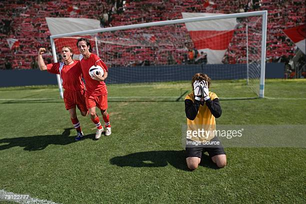 disappointed goalkeeper - defeat stock pictures, royalty-free photos & images