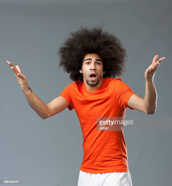 disappointed screaming soccer world cup fan - big hair stock pictures, royalty-free photos & images