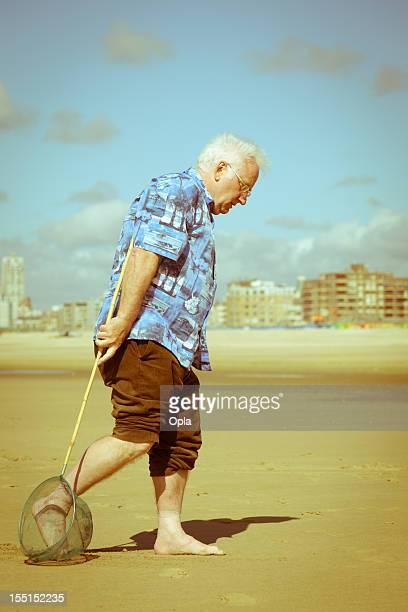 Disappointed senior tourist