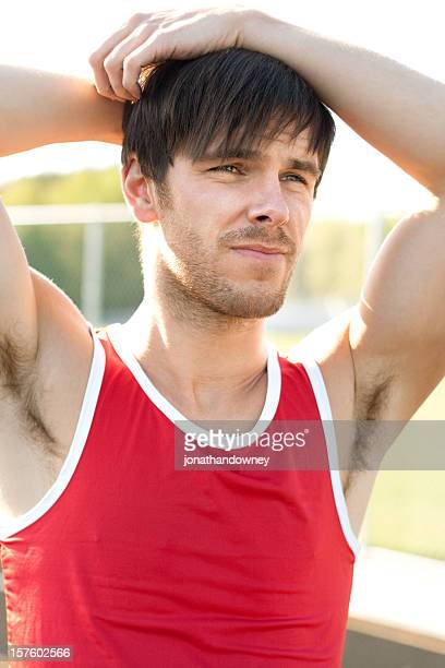 disappointed young guy - male armpits stock pictures, royalty-free photos & images