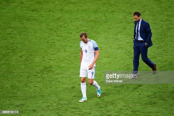 Disappointment for captain Harry Kane of England and England coach Gareth Southgate after they lose the International friendly match between France...