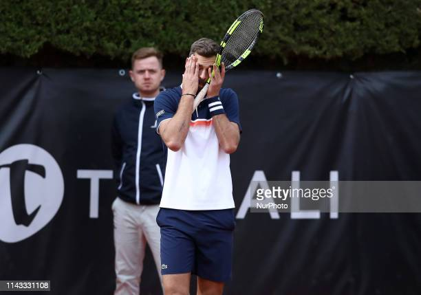Disappointment of Benoit Paire during the ATP Internazionali d'Italia BNL first round match at Foro Italico in Rome Italy on May 12 2019
