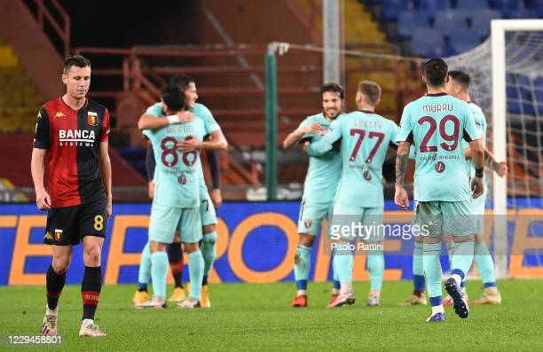 Disappointment of Lukas Lerager of Genoa CFC after second score of Sasa Lukic during the Serie A match between Genoa CFC and Torino FC at Stadio...