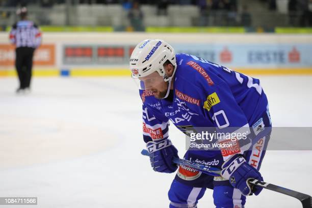 Disappointment with Nico Brunner of Villach during the Vienna Capitals v EC VSV Erste Bank Eishockey Liga at Erste Bank Arena on January 18 2019 in...