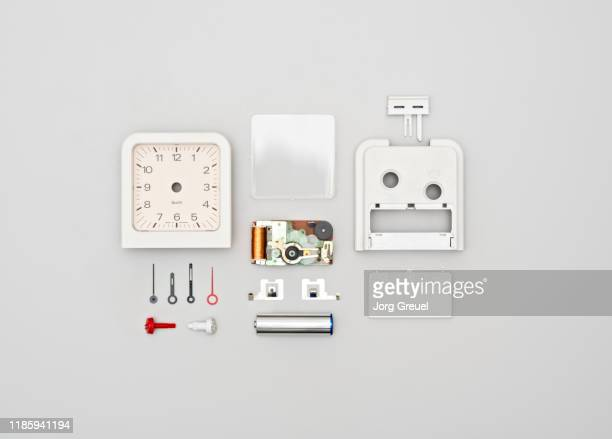 disassembled alarm clock - dismantling stock pictures, royalty-free photos & images