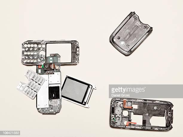 disassembled cellphone