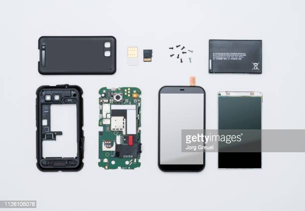 disassembled smart phone - dismantling stock pictures, royalty-free photos & images