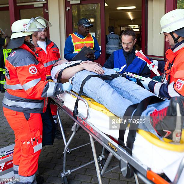 disaster management exercise, mass-casualty incident - evacuation stock pictures, royalty-free photos & images