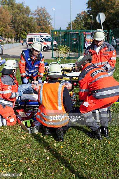 disaster management exercise, mass-casualty incident - casualty stock pictures, royalty-free photos & images