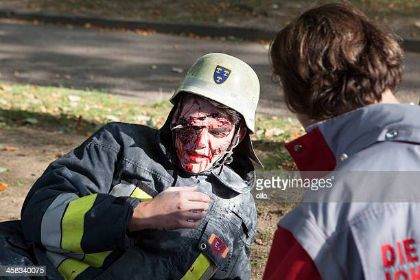 disaster management exercise, mass-casualty incident. - bombing stock pictures, royalty-free photos & images