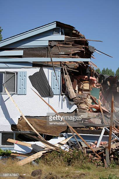 disaster - house collapsing stock pictures, royalty-free photos & images