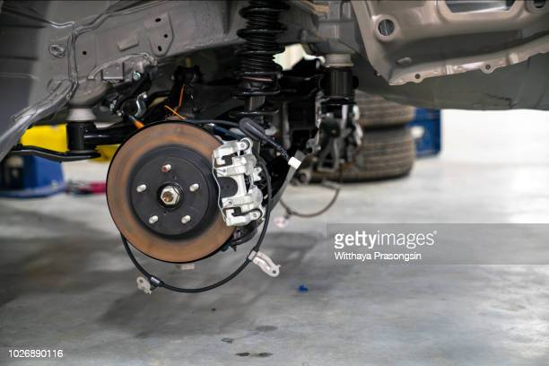disc car in maintenance service car.close up. - spoil system stock pictures, royalty-free photos & images