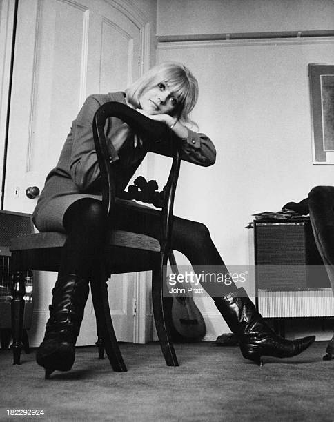 Disc jockey and presenter of the Rediffusion TV music show 'That's For Me' Anne Nightingale at her home in Brighton Sussex 14th December 1964