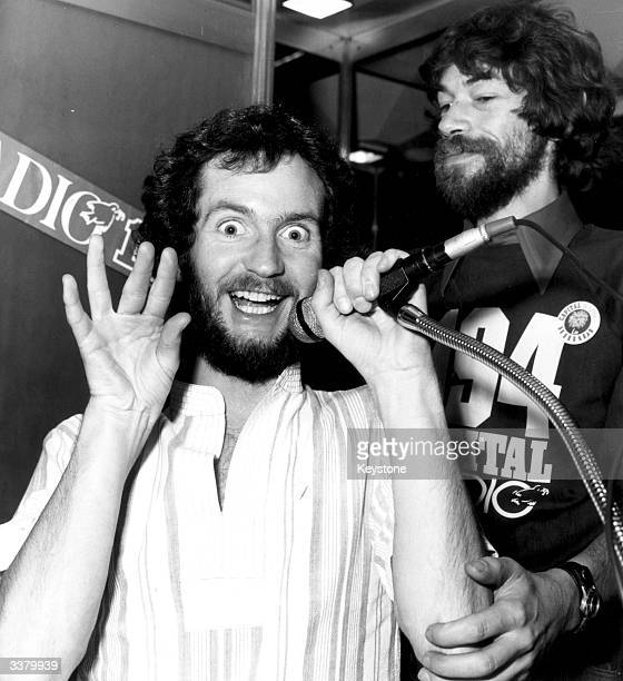 Disc jockey and television comedian Kenny Everett during his time as a broadcaster for Capital FM Radio in London Born Maurice Cole he was renowned...