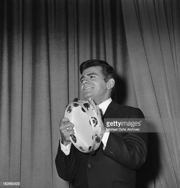 Disc jockey, TV personality and actor Casey Kasem on stage circa 1965 in Los Angeles, California.