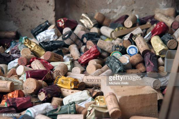 discarded corks horizontal
