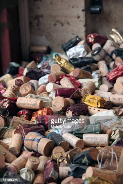 discarded corks vertical