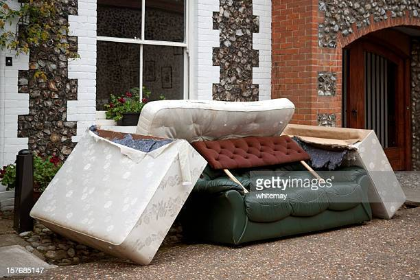 discarded furniture - obsolete stock pictures, royalty-free photos & images