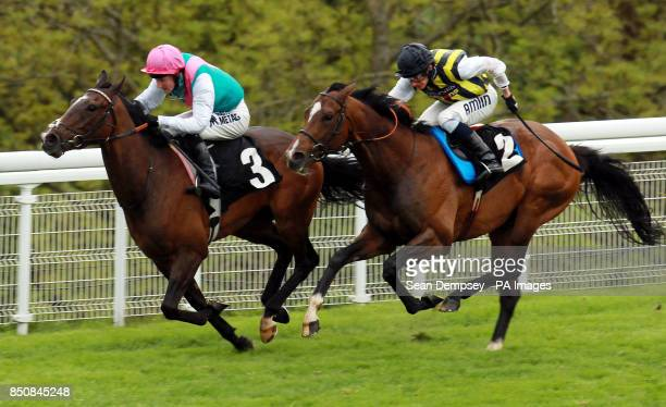 Disclaimer ridden by Tom Queally wins the Casco EBF Cocked Hat Stakes during the May Festival at Goodwood Racecourse West Sussex