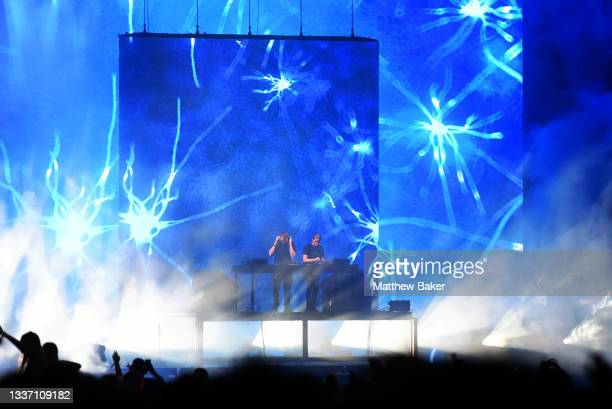 Disclosure perform on Day 3 of Leeds Festival 2021 at Bramham Park on August 29, 2021 in Leeds, England.