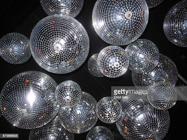 disco ball chandelier - disco ball stock photos and pictures