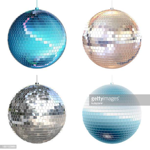 disco ball collection - mirror ball stock pictures, royalty-free photos & images