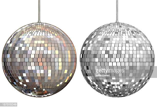disco ball mirrors 3d rendering - evening ball stock pictures, royalty-free photos & images