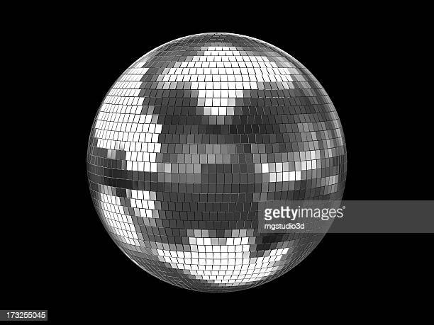 disco ball silver - evening ball stock pictures, royalty-free photos & images