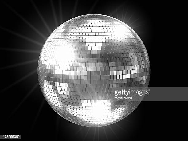 Disco Ball Silver with Flares