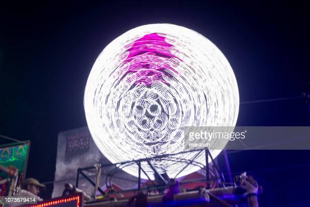 disco ball spinning. - disco ball foto e immagini stock