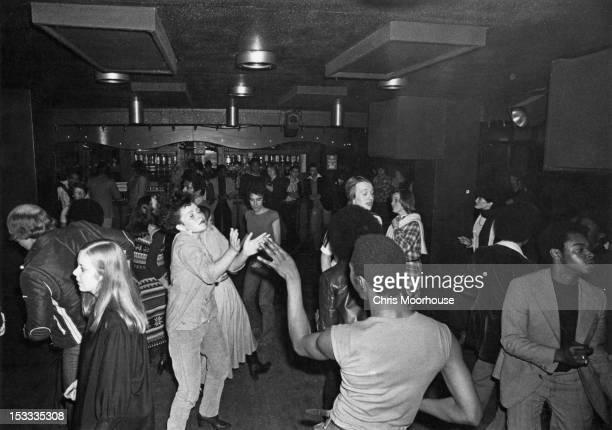 Disco dancers at a London club, 18th November 1977.