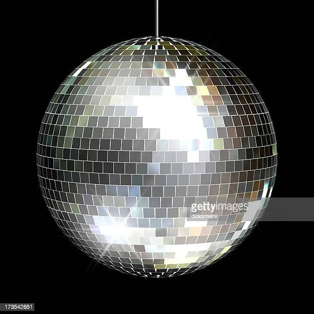 disco mirror ball - disco ball stock photos and pictures