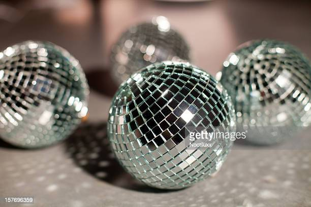 Disco mirror balls on surface
