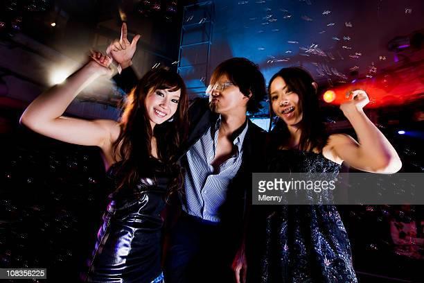 Disco Night Club Dancing People