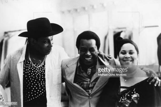 Disco singer Sylvester aka Sylvester James comedian Flip Wilson and 1 half of the disco group 'Two Tons o' Fun' aka The Weather Girls Martha Dash...