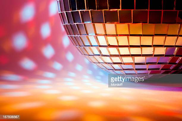 Disco sphere with colored spot lights