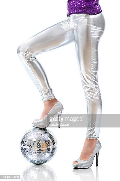 disco time - satin pants stock pictures, royalty-free photos & images