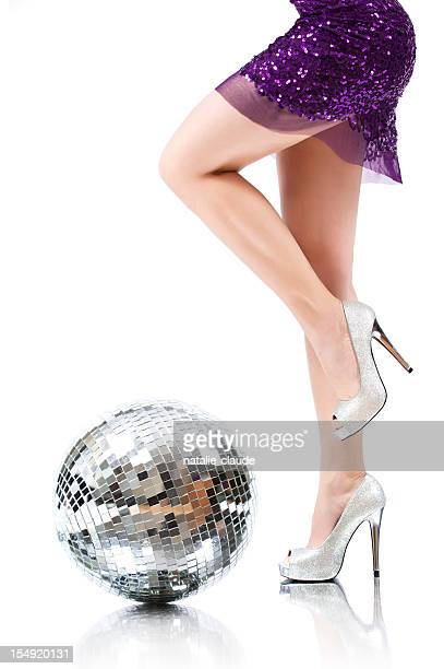 disco time - silver dress stock pictures, royalty-free photos & images