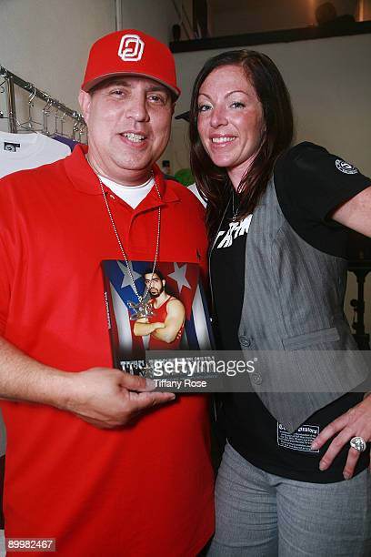 """Disco Wiz and publicist Nicole Elieff attend the """"It's Just Begun"""" book launch event at The Originators Store LA on August 20, 2009 in Los Angeles,..."""