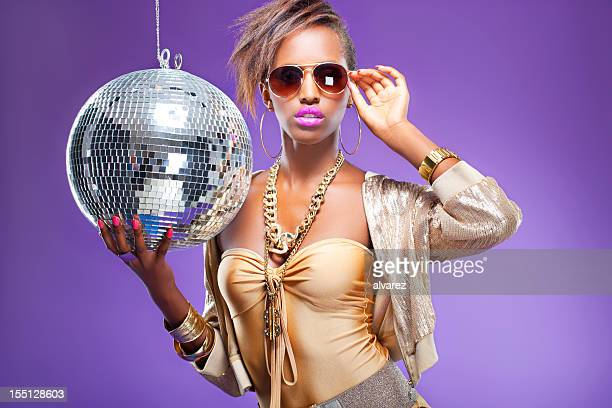 disco woman - all hip hop models stock photos and pictures