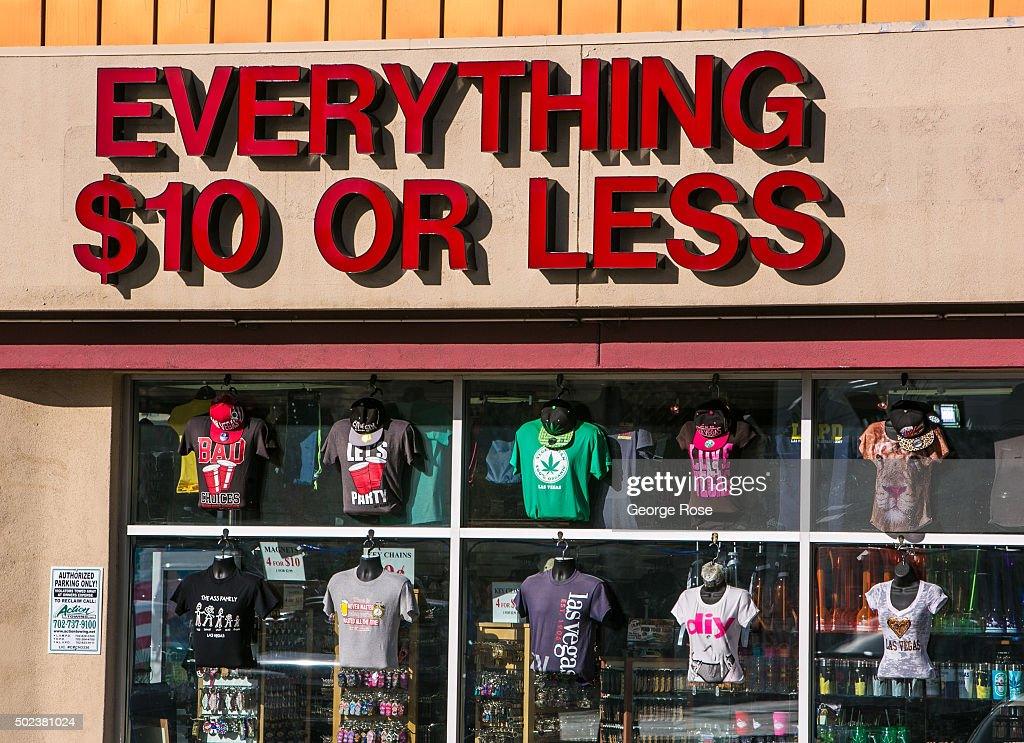 A Discount Clothing Store In A Las Vegas Blvd Strip Mall
