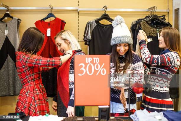 Discount in the clothing store